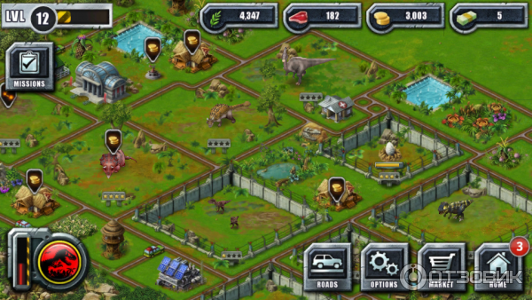 парк юрского периода игра скачать на андроид бесплатно