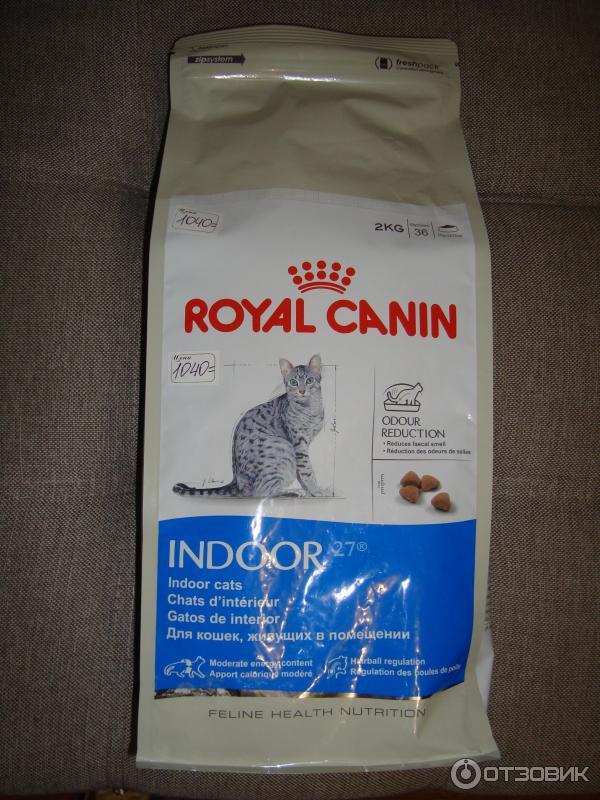 Корм royal canin indoor cat