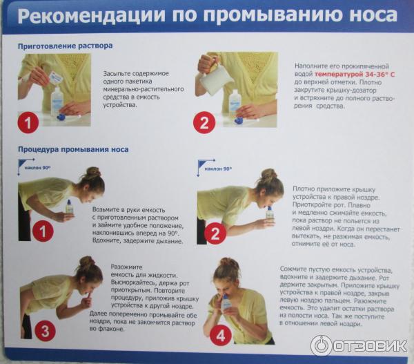 Как промывать нос фурацилином видео