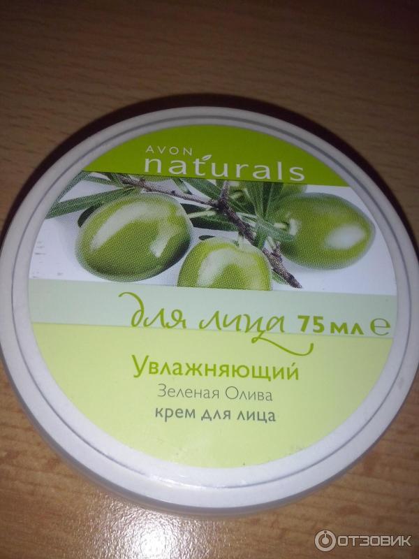 Увлажняющий крем для лица зеленая олива