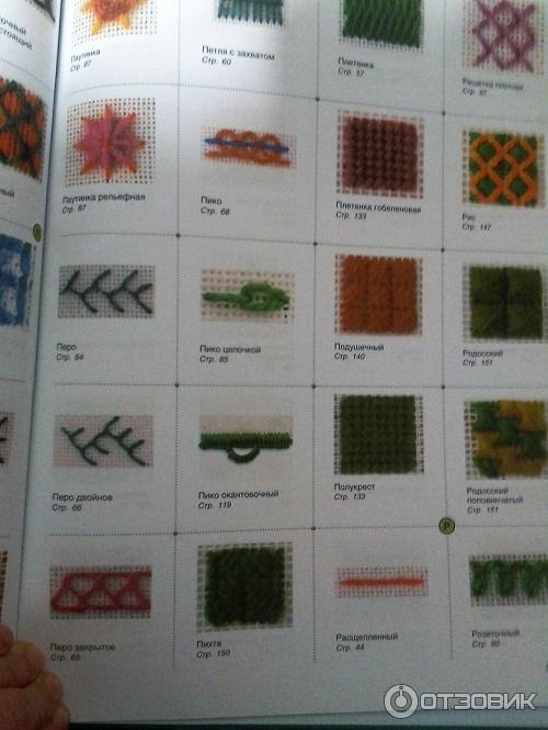 Энциклопедия швов вышивка