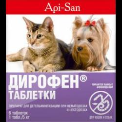 таблетки от глистов дирофен для кошек инструкция