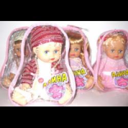 Кукла малышка озвуч в рюкзаке сумка-рюкзак кожаный женский