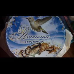 Торт птичье молоко колос