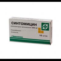 Суппозитории противовоспалительные с синтомицином вагинальные