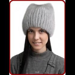 отзывы о женская меховая шапка из вязаной норки русский мех