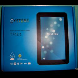 Oysters t74er руководство пользователя