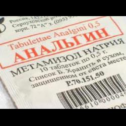 Запрет на препарат анальгин