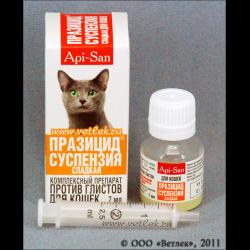 Прием глистогонных для котов