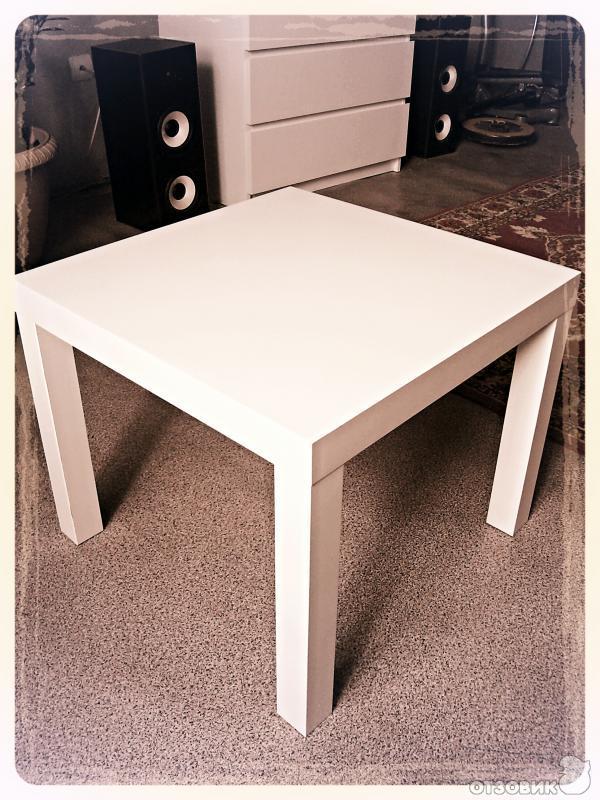отзыв о придиванный столик Ikea лакк функциональность и цена