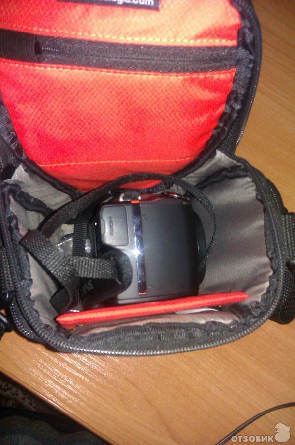 как вставить фотоаппарат в сумку работ