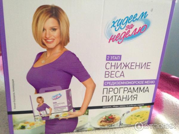 Программа Похудения Бородины. Диета Ксении Бородиной «Худеем за неделю»: меню и отзывы