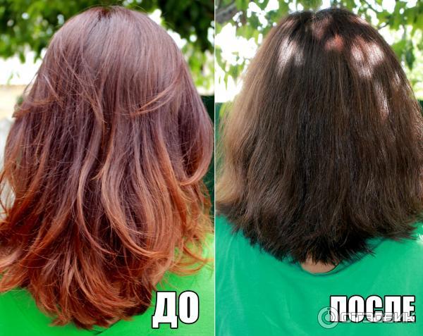 Басма для волос фото до и после