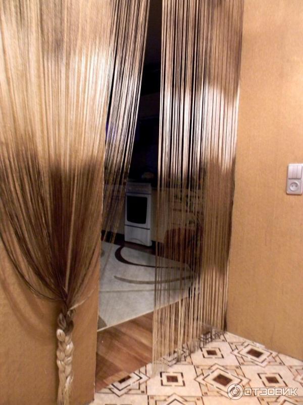 нитяные шторы в дверном проеме фото краской для