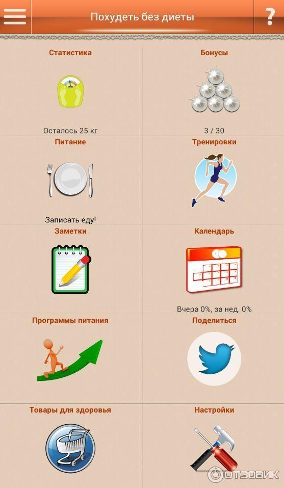 Приложения Похудей Без Диет. Три приложения для смартфона, которые помогут вам похудеть