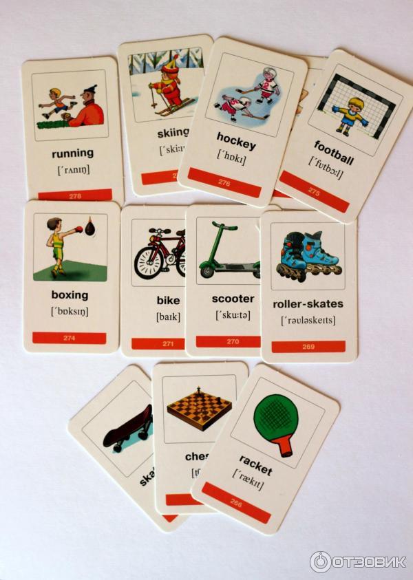 карточки с картинками для заучивания слов тех пор