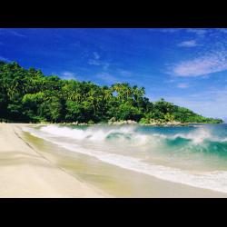 Фото песчаный пляж на закате