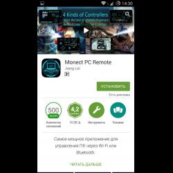 Отзывы о Monect PC Remote - программа для Android